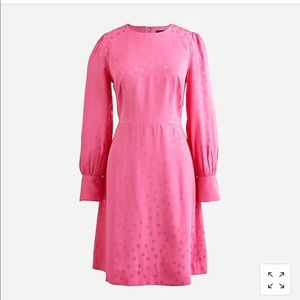 BN JCREW shift dress pink w/dots size 8 tall